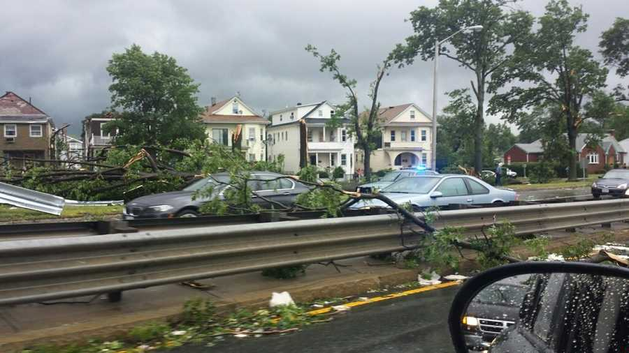 A tree down in Revere.