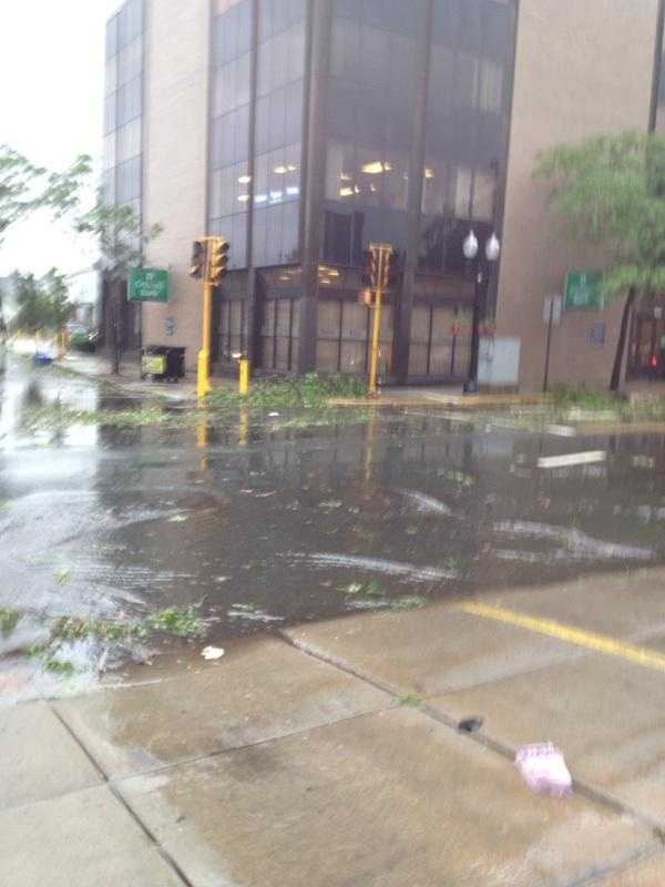 Damage along Broadway in Revere