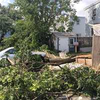 A look at the damage from an EF2 tornado that touched down in Revere.