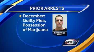 Kibby pleaded guilty in December 2013 to a charge of possession of marijuana. He was fined as a result of the guilty plea.