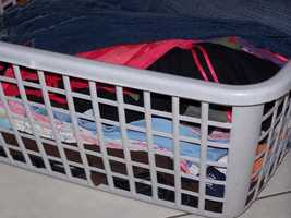 60 percent of clothes washers are contaminated with bacteria.