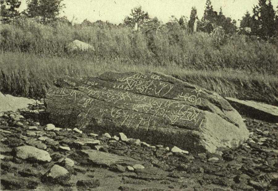 Dighton Rock is the Massachusetts State Explorer Rock.