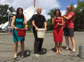 EyeOpener challenge accepted! Randy, Emily and Cindy accepted the #ALSIceBucketChallenge to bring awareness to ALS.