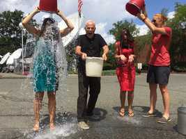 Is Randy chickening out on the ALS Ice Bucket Challenge?