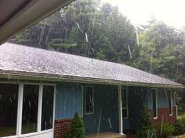Hail falls inHubbardston