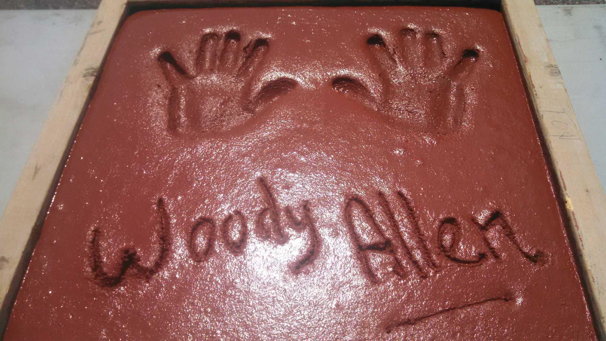 Woody Allen Pawtucket Handprints 8.8