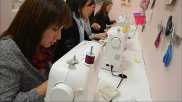 The owner said she opened the shop when she couldn't find a sewing class for her daughter.