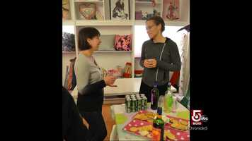 She also recently launched Sip and Sew, which is wine and cheese and you learn to use a sewing machine.