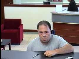 Police say this man robbed the Bank of America in Bedford on Monday. Anyone with information is asked to call police at 781-275-1212.