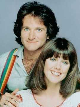 """Robin Williams starred as a slapstick alien in """"Mork and Mindy"""" from 1978-1982."""
