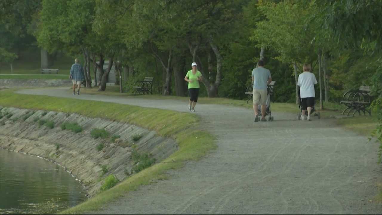 Woman rescues kids after runaway stroller rolls into reservoir