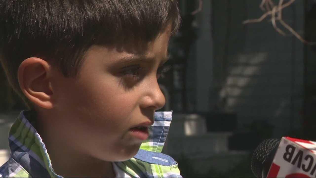 Child gets big reward for helping elderly neighbor