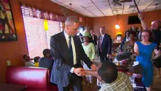 AG Holder in Ferguson