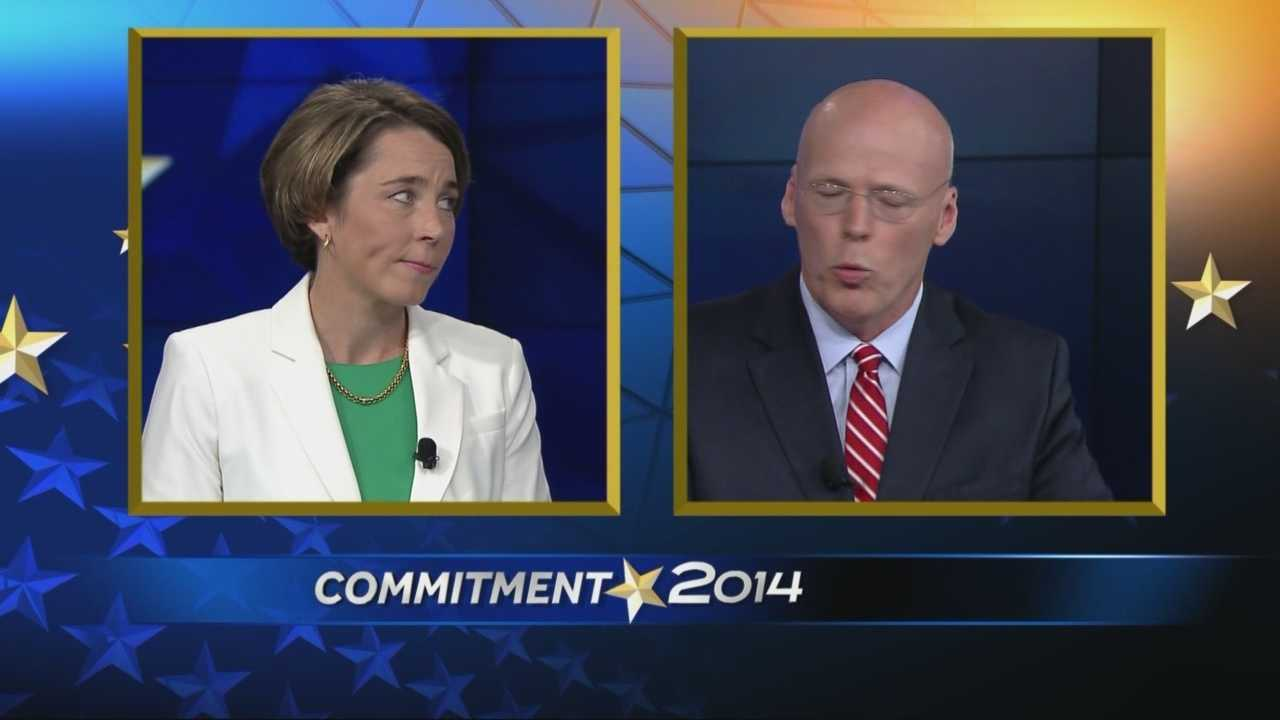 "A heated exchange between the democratic candidates for Massachusetts attorney general over gambling highlighted a WCVB ""On The Record"" debate taped Thursday."
