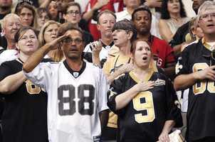 3) New Orleans SaintsHometown Crowd Rank: 2TV Audience Rank: 1Stadium Attendance Rank: 1Social Media Rank: 2Merchandise Rank: 10