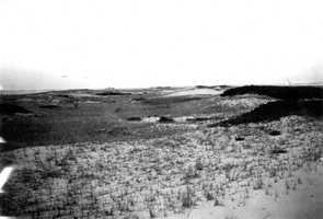 Cape Cod National Seashore, Massachusetts. Dunes between Wood End and Long Point, steep side toward the harbor near Provincetown. August 29, 1916