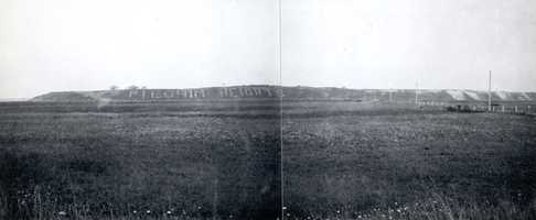 Cape Cod National Seashore, Massachusetts. Pilgrim Heights sign on the southwest face of the cliff. September 1, 1916.