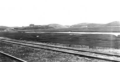Cape Cod National Seashore, Massachusetts. Kame-like hills in the western part of the Truro Plains, looking south-southwest across the marshes from the Truro railroad station. June 8, 1916.
