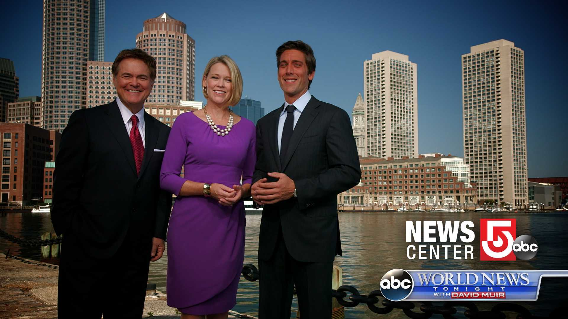 World News Tonight with David Muir airs every weeknight at 6:30, following NewsCenter 5 with Ed Harding and Heather Unruh at 6:00.