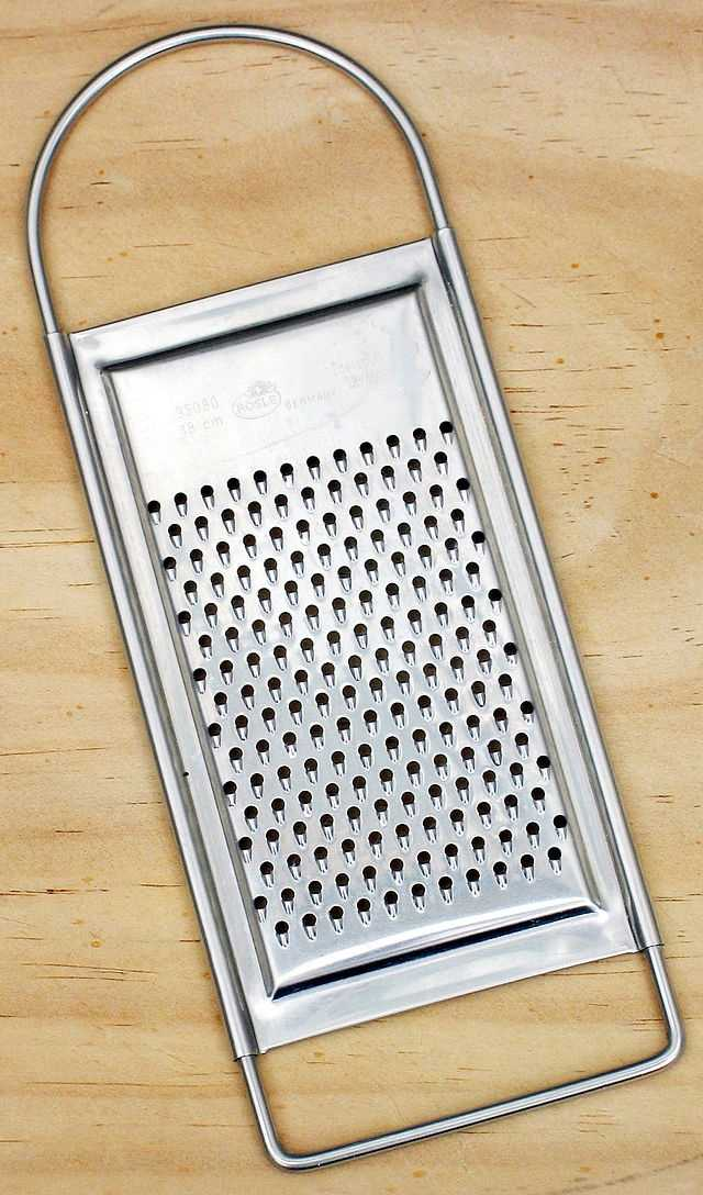 Clean Up the Cheese Grater