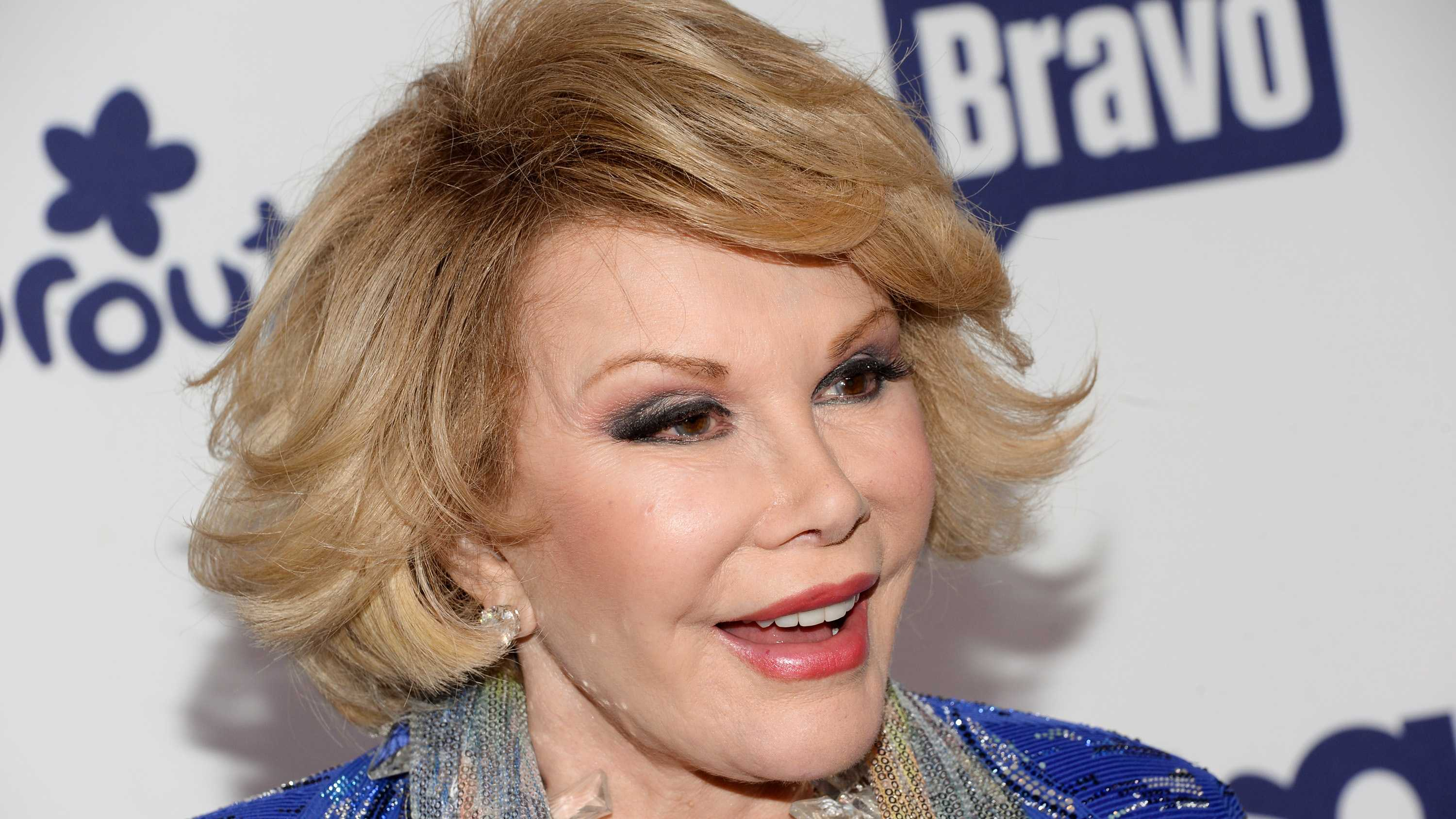 "Joan Rivers was the raucous, acid-tongued comedian who crashed the male-dominated realm of late-night talk shows and turned Hollywood red carpets into danger zones for badly dressed celebrities. Rivers - who made ""Can we talk?"" a trademark of her routines - never mellowed during her half-century-long career. She continued to appear on stage and on TV into her 80s. (June 8, 1933 – September 4, 2014)"
