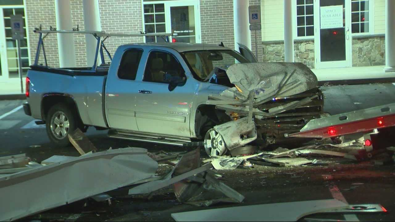 Two cars and a pickup truck were demolished after a wild crash in Pembroke.