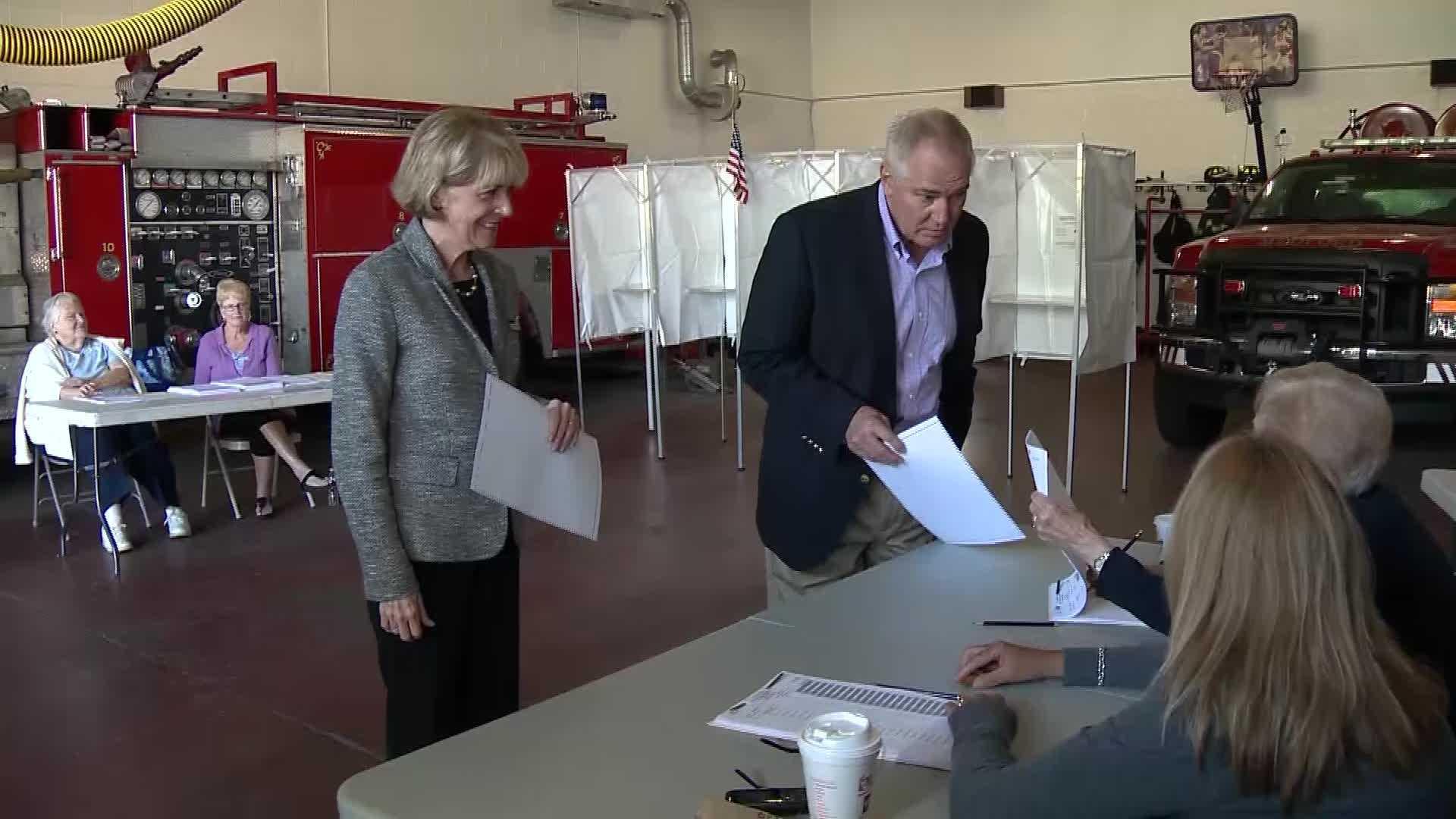 Attorney General Martha Coakley, who hopes to succeed Gov. Deval Patrick, voted in Medford.