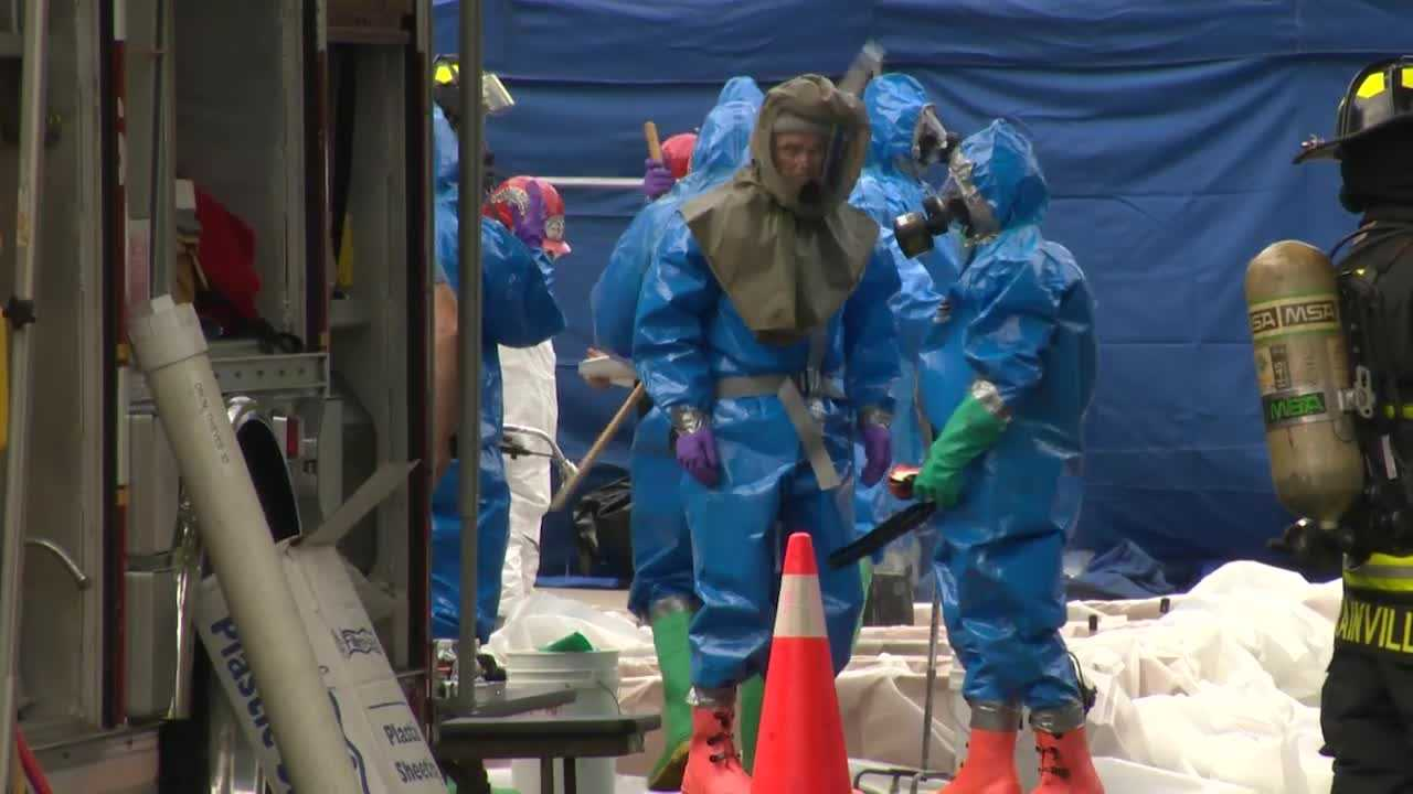 Officials said at a press conference Sunday that crews needed up to 25 biohazard waste containers to remove materials from the home, includes walls covered with feces. Sources told NewsCenter 5 that it appeared children inside the home used piles of feces to leave handprints on some of the walls.