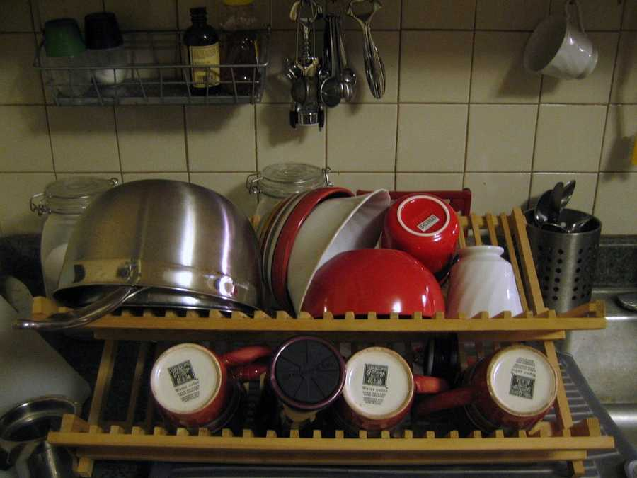 That way you won't have a sink full of dirty dishes by the end of the week.