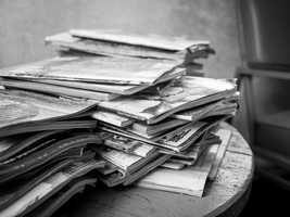 Don't let stacks of magazines pile up everywhere.