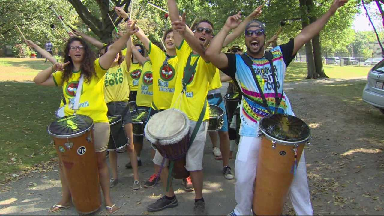 A look at one of the Berklee Beantown Jazz Festival's mainstays, Bloco AfroBrazil.