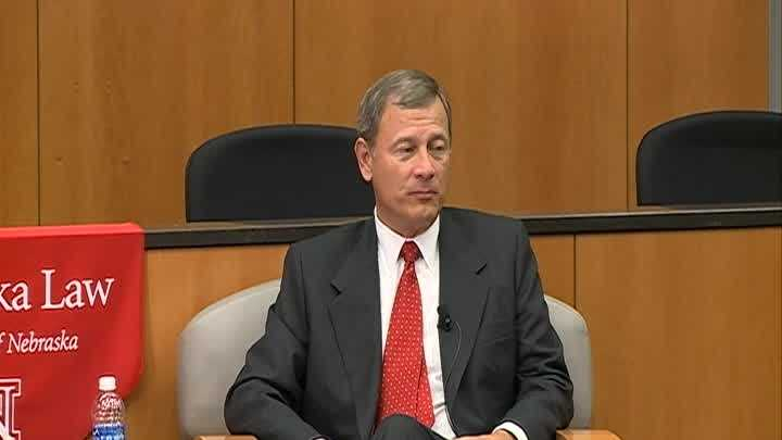 Chief Justice John Roberts spoke at UNL Friday.