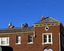 Roofers: Median salary - $35,520Being a roofer requires a lot of heavy lifting, climbing, bending and kneeling. There's also the chance of heat-related injuries.