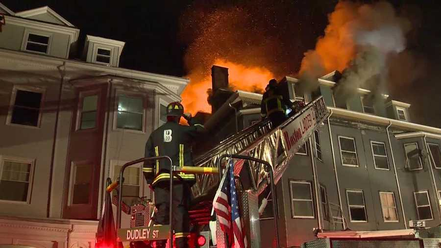 One person was killed after a 5-alarm fire tore through a multifamily home in Roxbury on Friday night.