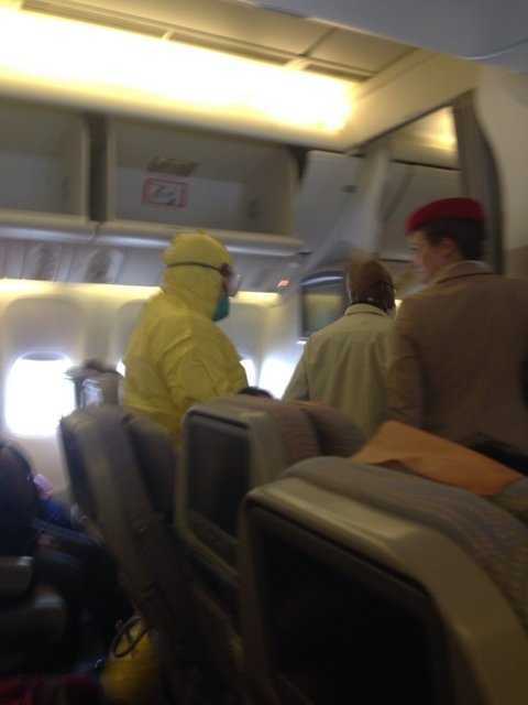 Sick passengers on an Emirates Airlines flight from Dubai prompted a hazmat scare at Boston Logan International Airport on Monday afternoon.