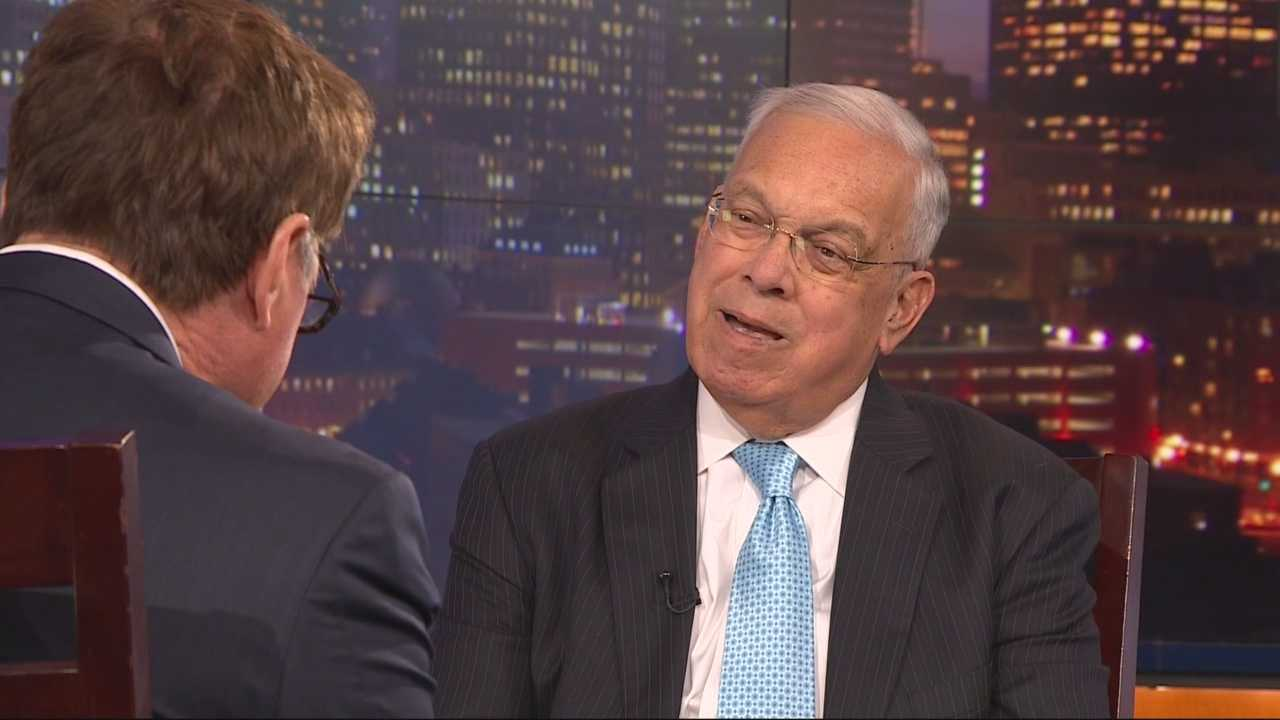 "Menino discusses his book ""Mayor for a New America"" with NewsCenter 5's Ed Harding in October 2014."