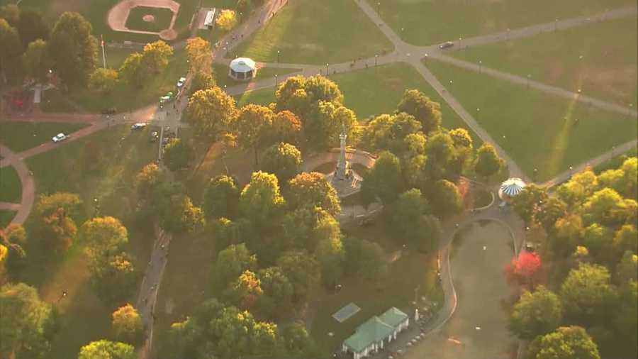Two park rangers were stabbed on Boston Common on Tuesday evening, according to officials.