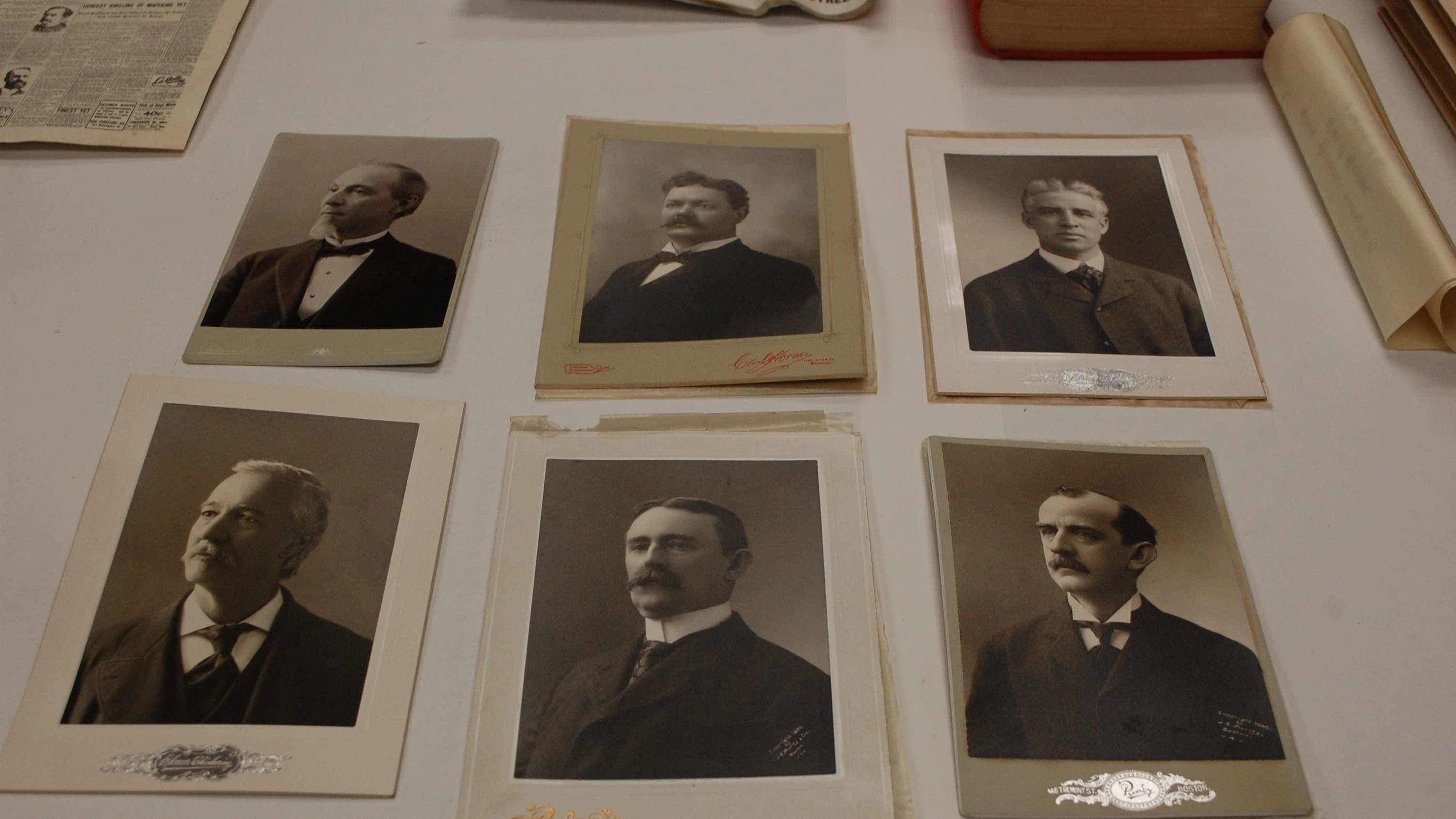 Six photographs of GAR officials [these are pages cut out of a publication]