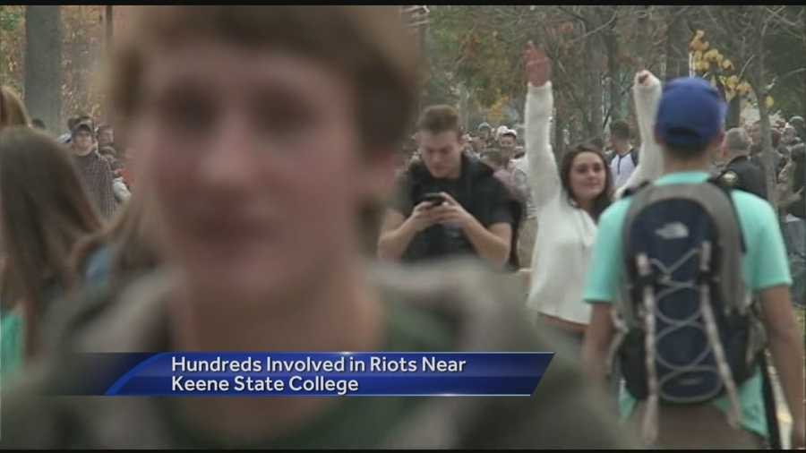 Hundreds of people were involved in riots near Keene State College Saturday. Several people were injured and arrests were also made. Click for the latest details and advance this slideshow to view more photos from the scene.
