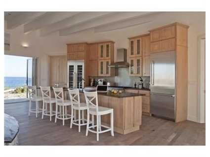 The ultra open floor plan was designed to take advantage of its fabulous, close up ocean views.