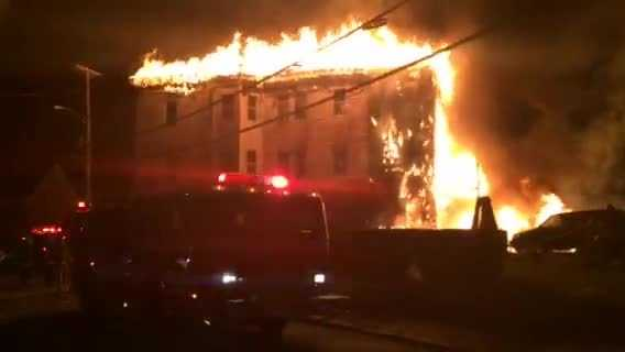 A 4-alarm fire that tore through a Lawrence multifamily home.