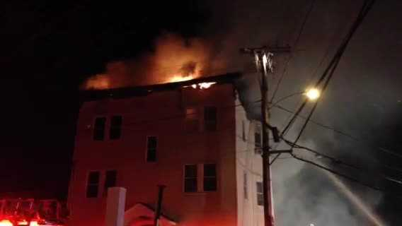 The fire broke out early Tuesday morning on Kingston Street