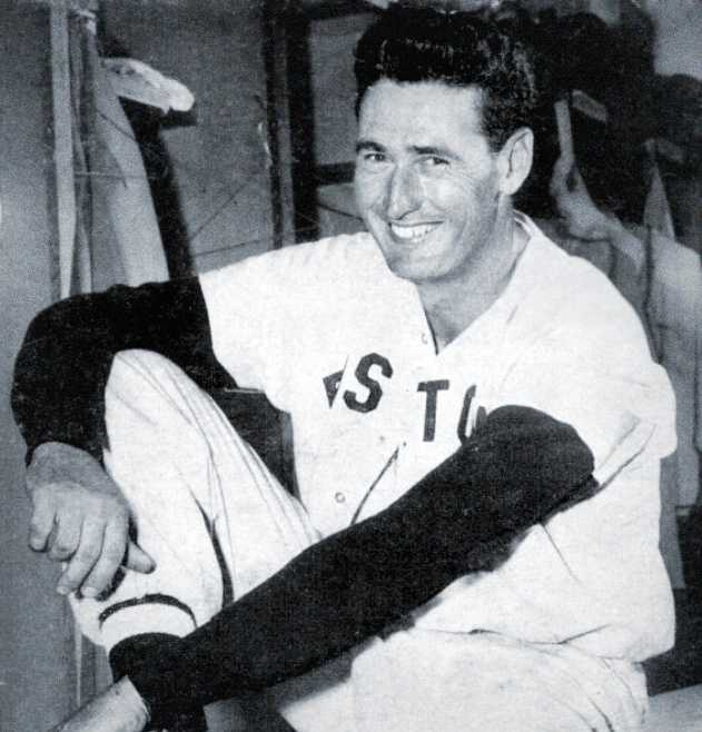 First Home Run hit by Ted Williams in New England was during an exhibition game against Holy Cross in 1939.