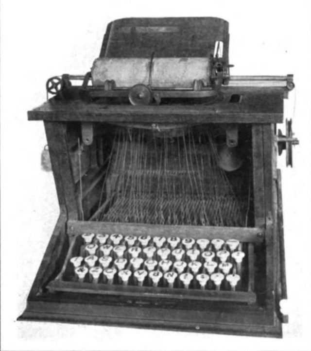 The typewriter as is appears today, was invented in Worcester by Charles Thurber in 1840, and patented in 1843.