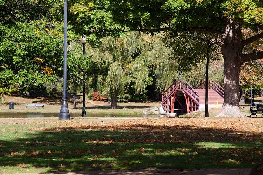 Worcester's Elm Park in 1854 became America's first public park.