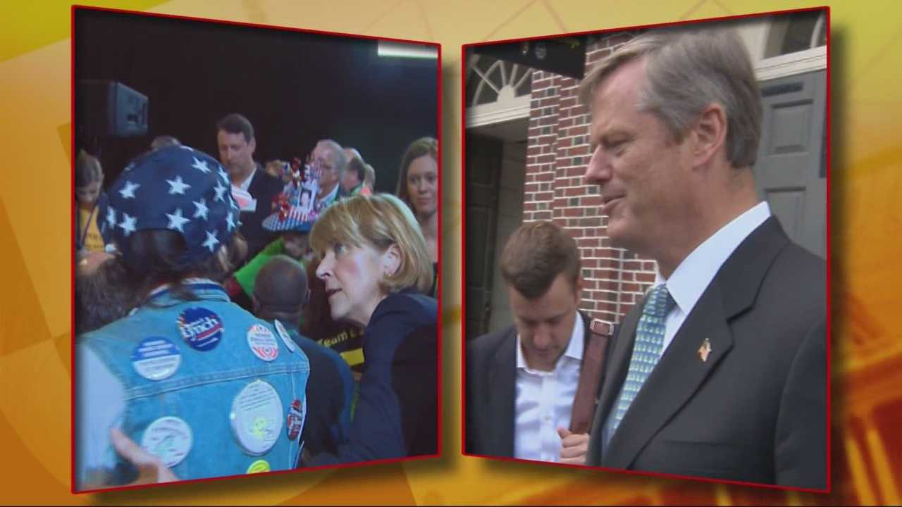 Both candidates appeared live on WCVB's On The Record Sunday.