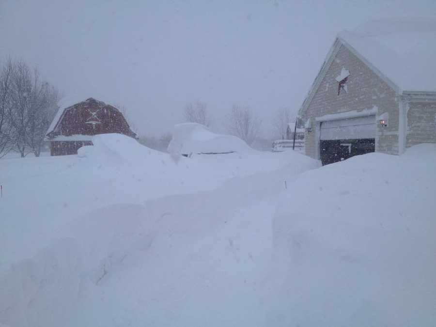 """Pamela Henderson - """"Freeman Over 3 foot in Alden with drift 5 to 6. Our vehicles are buried!"""""""