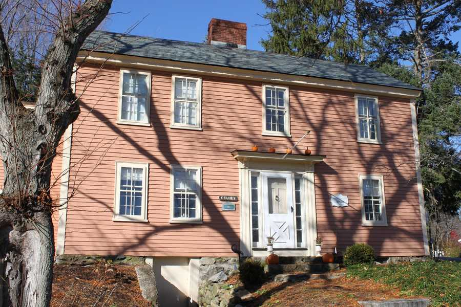 The Perkins-Hodgkins House (circa 1700), located at 80 East St on the corner with Jeffreys Neck Road in Ipswich is a 2 story, end-gable house. The house has been greatly expanded in recent years and bears little resemblance to the original structure.Read more at Historic Ipswich. All photos courtesy Gordon Harris, Town Historian.  Read his blog on Ipswich historic homes.