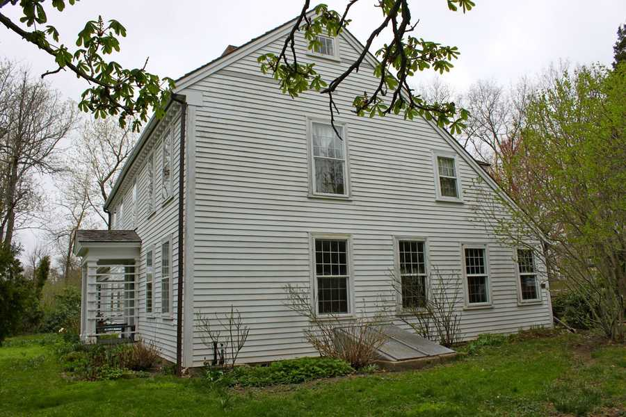 """The """"Tilton-Smith House"""" at 168 Argilla Road in Ipswich. Built circa 1720, a 1998 fire took away much of its original frame but the owner totally rebuilt the home with attention to historical detail and authentic 18th century craftsmanship.Read more at Historic Ipswich. All photos courtesy Gordon Harris, Town Historian.  Read his blog on Ipswich historic homes."""