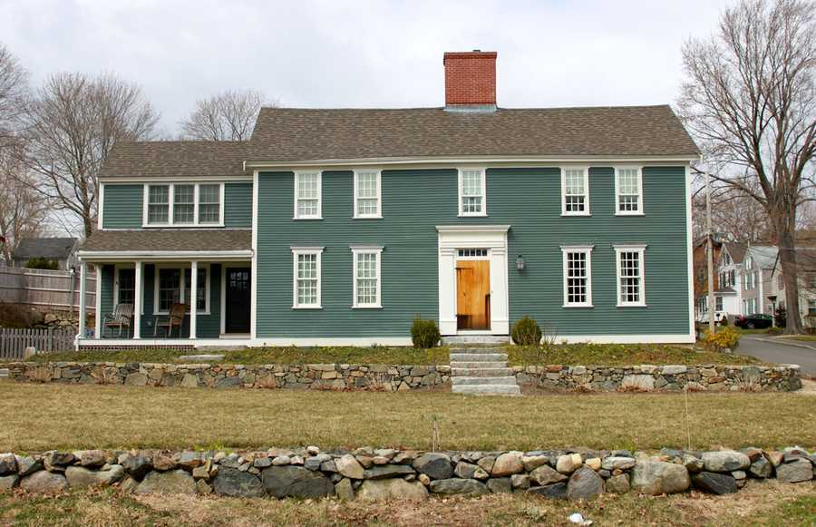 """The Sutton House, a First Period Structure at 8 Water St in Ipswich. Thomas Franklin Waters wrote in """"Ipswich in the Massachusetts Bay Colony"""" (1905) that Abner Harris bought the lot and probably built the house in 1743.Read more at Historic Ipswich. All photos courtesy Gordon Harris, Town Historian.  Read his blog on Ipswich historic homes."""